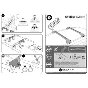 MODULA Estrutura de transporte no tejadilho / barras de tejadilho MOCSOB0AL00000006 em oferta