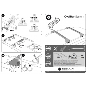 Rails de toit / barres de toit MODULA à prix raisonnables