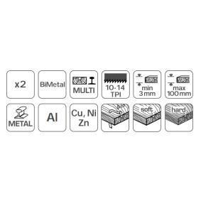 Hogert Technik Folha de serrote HT6D680-2 loja online