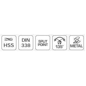 Hogert Technik Metallspiralbohrer HT6D814 Online Shop