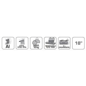 Hogert Technik Caja adicional, carro de herramientas HT7G060 tienda online