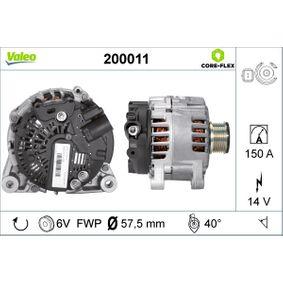 Generator VALEO Art.No - 200011 OEM: 96463218 für PEUGEOT, CITROЁN, SUZUKI, TVR kaufen
