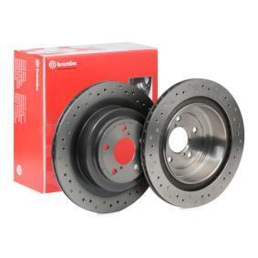 Bremsscheibe BREMBO Art.No - 09.B041.1X OEM: 26700AE080 für SUBARU kaufen