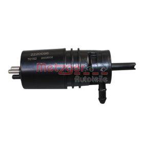 Waschwasserpumpe, Scheibenreinigung METZGER Art.No - 2220096 OEM: 1408690021 für MERCEDES-BENZ, SMART kaufen