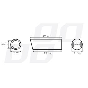 01302 Накрайник за тръбата на аспуха за автомобили