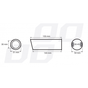 01302 Exhaust Tip for vehicles