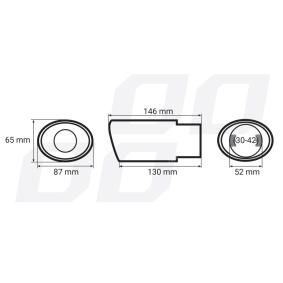 01303 AMiO Déflecteur de tuyau de sortie en ligne à petits prix