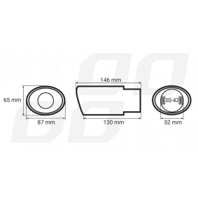 AMiO Exhaust Tip 01305 on offer