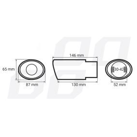 AMiO Déflecteur de tuyau de sortie 01305 en promotion