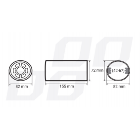 01306 Exhaust Tip for vehicles