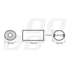 01306 Deflector do tubo de escape para veículos