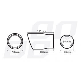 01307 Exhaust Tip for vehicles