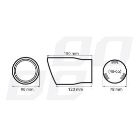 01307 Déflecteur de tuyau de sortie pour voitures