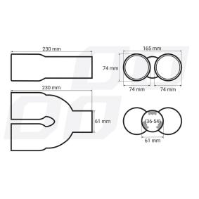 01308 Déflecteur de tuyau de sortie pour voitures