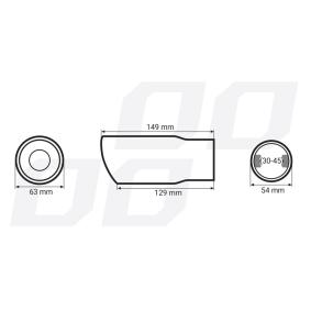 Przegroda rury wylotowej do samochodów marki AMiO - w niskiej cenie