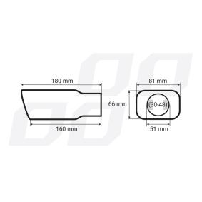 AMiO Накрайник за тръбата на аспуха 01315 изгодно