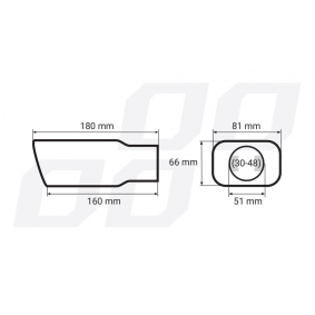 AMiO Exhaust Tip 01315 on offer