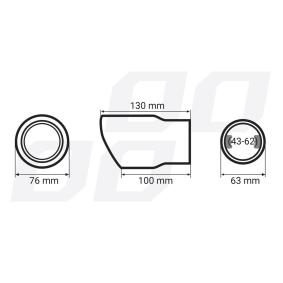 01317 Накрайник за тръбата на аспуха за автомобили