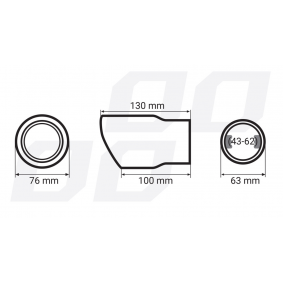 01317 Déflecteur de tuyau de sortie pour voitures