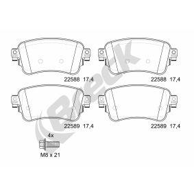 Brake Pad Set, disc brake BRECK Art.No - 22588 00 703 00 OEM: SU001A6136 for TOYOTA, LEXUS buy