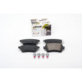 BRECK Brake Pad Set, disc brake SU001A6136 for TOYOTA, LEXUS acquire