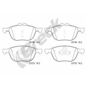 Bremsbelagsatz, Scheibenbremse BRECK Art.No - 25748 00 701 00 OEM: CV612K021BA für FORD, FORD USA kaufen