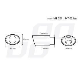 02353 Накрайник за тръбата на аспуха за автомобили
