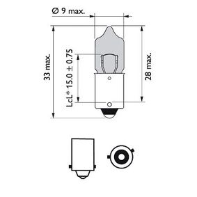 Bulb, indicator (12036WVUB2) from PHILIPS buy