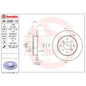 BREMBO Комплект спирачни дискове 08.5582.10