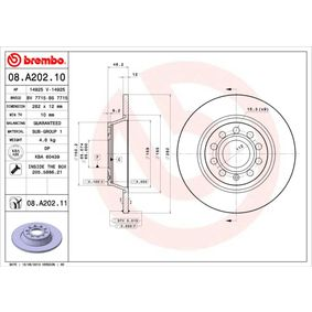 BREMBO Спирачен диск 08.A202.10