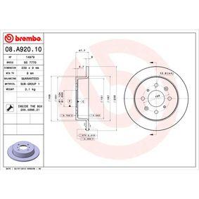 BREMBO Централен изключвател 08.A920.10