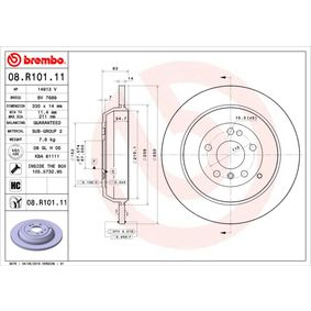 Спирачен диск BREMBO Art.No - 08.R101.11 OEM: 1644230512 за VW, MERCEDES-BENZ, DAIMLER купете