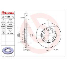 Bremsscheibe BREMBO Art.No - 09.5055.10 kaufen