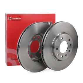 BREMBO Disc frana punte fata, Ř: 280mm, ventilat interior 09.7629.10 de calitate originală