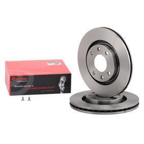 BREMBO Disco de travão Eixo dianteiro, Ø: 266mm, interior ventilado 09.8695.14 de qualidade original