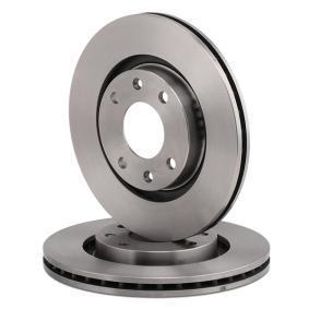 BREMBO Disco de travão Eixo dianteiro, Ø: 266mm, interior ventilado 8020584014035 classificação