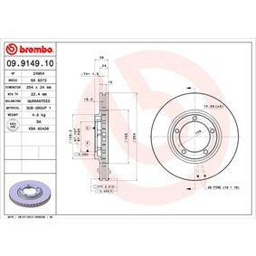 BREMBO Kit dischi freno 09.9149.10