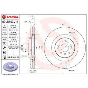 Спирачен диск BREMBO Art.No - 09.R103.11 OEM: 1644210512 за MERCEDES-BENZ купете