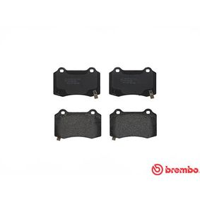 BREMBO Bremsbelagsatz, Scheibenbremse 68003610AA für CHEVROLET, ALFA ROMEO, JEEP, CHRYSLER, JAGUAR bestellen