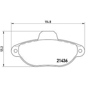 BREMBO Brake pad set (P 23 096)