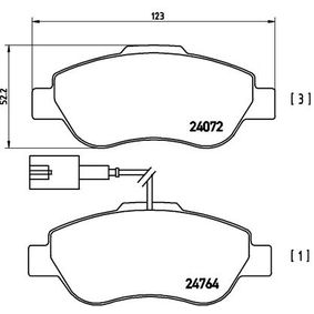 BREMBO FIAT 500 Sistema de ventilación del cárter (P 23 107)