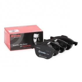 BREMBO Brake Pad Set, disc brake Rear Axle, Front Axle 23724, 23723 expert knowledge