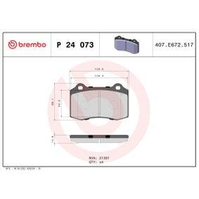 Bremsbelagsatz, Scheibenbremse BREMBO Art.No - P 24 073 OEM: 1329156 für FORD, KIA, JAGUAR kaufen