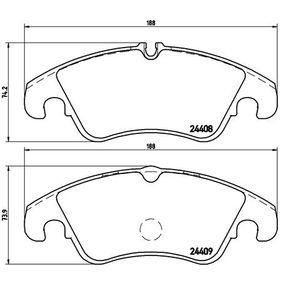 Bremsbelagsatz, Scheibenbremse BREMBO Art.No - P 24 074 OEM: 1567730 für VW, FORD kaufen