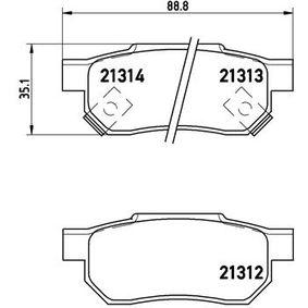 BREMBO Комплект спирачно феродо, дискови спирачки (P 28 017) на ниска цена