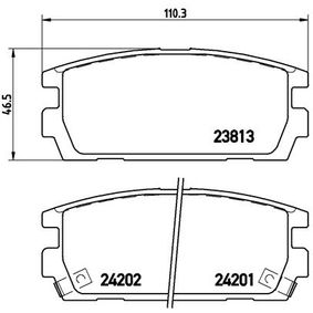 Bremsbelagsatz, Scheibenbremse BREMBO Art.No - P 30 021 OEM: 58302H1A00 für TOYOTA, HYUNDAI, KIA kaufen