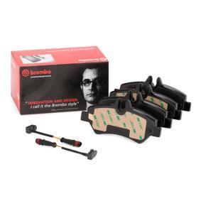 2E0698451 für VW, MERCEDES-BENZ, AUDI, SKODA, SEAT, Bremsbelagsatz, Scheibenbremse BREMBO (P 50 084) Online-Shop