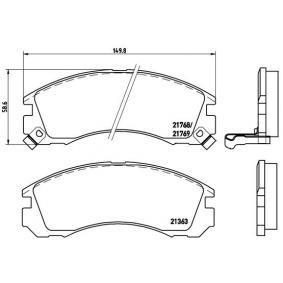 Pastiglie freno (P 54 017) fabbricante BREMBO per MITSUBISHI Pajero Sport I SUV (K7_, K9_) anno di produzione 11/1998, 165 CV Negozio su web