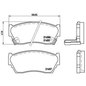 Bremsbelagsatz, Scheibenbremse BREMBO Art.No - P 56 027 OEM: 4106050Y90 für HYUNDAI, NISSAN kaufen