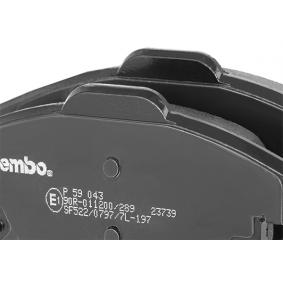 BREMBO Bremsbelagsatz, Scheibenbremse P 59 043